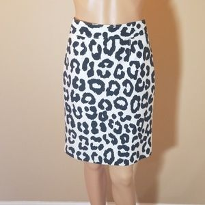 Ann Taylor Loft Cotton/Silk Leopard Skirt. Sz 6.
